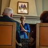 Huldiging gouden bruiloft op stadhuis met brugemeester Martine Fournier - 5 juli 2014 - Menen
