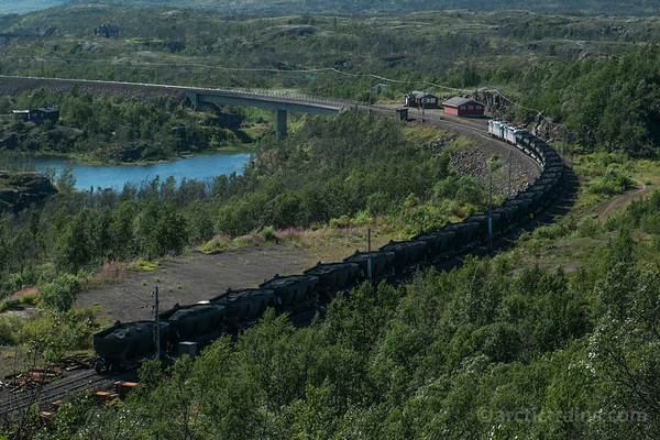 Green Cargo, Rm, Northland Resources Fammrr 121s in train no 9172 at Soesterbekk hp 2014-08-10 Photo: Terje Storjord