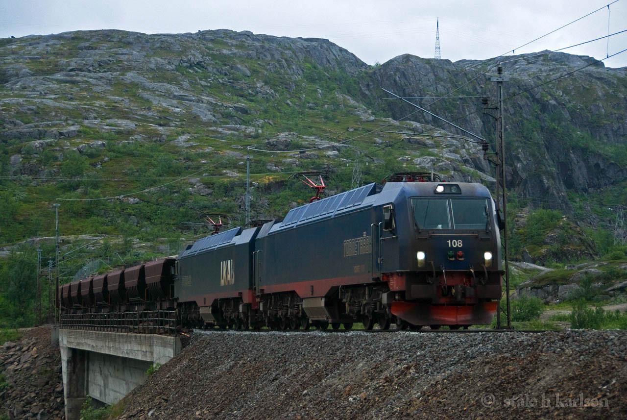LKAB IORE 108 New Nordal brigde 2010-08-01 by Ståle Hatlelid Karlsen