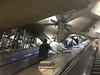 London Underground, going up.