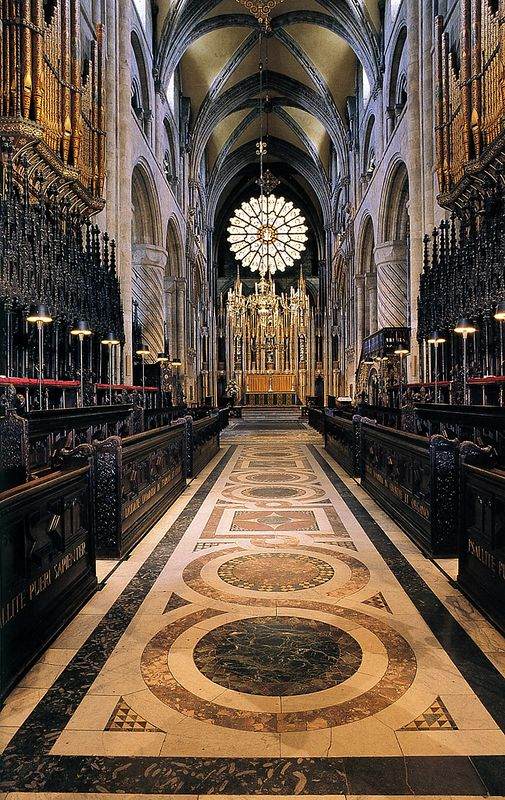 Durham Cath Nave & Font