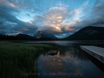 Mt. Rundle, Banff National Park, Alberta, Canada. I was scouting this area out for sunsrise the next day when this happened. ;) #sunsetatasunriselocale