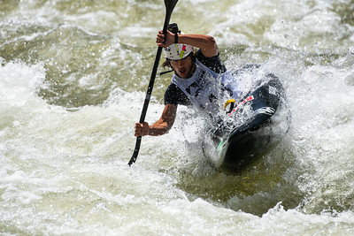 Matias Lopez, of San Rafael Argentina, charges down the Dowd Chute section of the Eagle river during the 2018 GoPro Mountain Games in Vail on Thursday. Lopez placed second overall