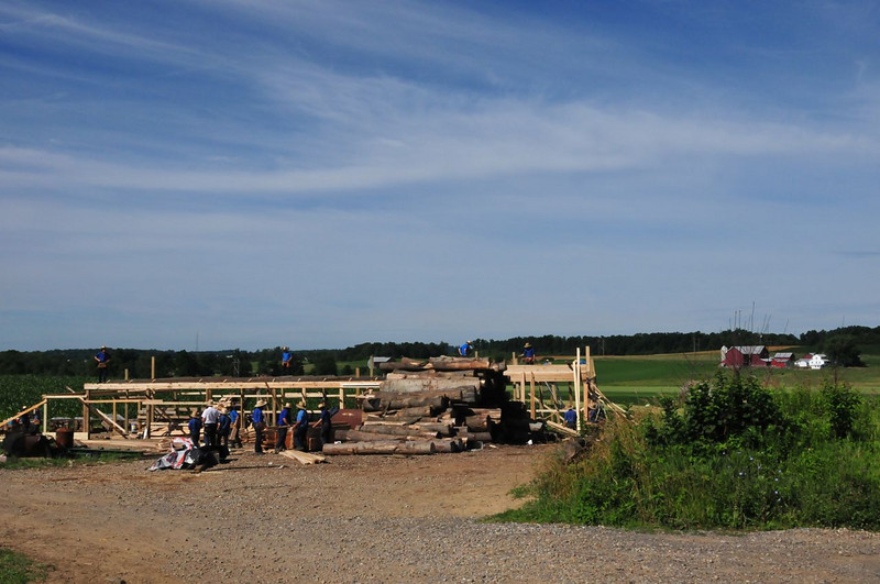Swartzentruber Barn Raising just outside Kidron, OH