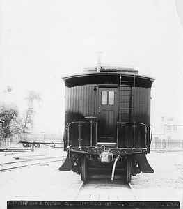 2009.018.01.001--AC&F 9.5x7.5 builders print--unknown road--wooden caboose 269--Jeffersonville IN--no date