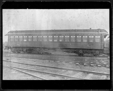 2009.018.01.030--Ohio Falls Car Mfg Co 9.5x6.25 cabinet card--Nashville Chattanooga & St Louis--wooden passenger coach 14--Jeffersonville IN--no date