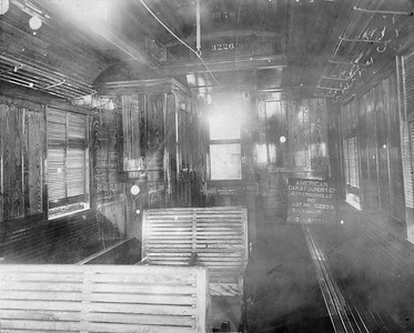 2009.018.01.048--Ohio Falls Car Mfg Co 9.25x7.5 builders print--National Lines of Mexico--interior view of wooden passenger coach 3226--Jeffersonville IN--1911 0318