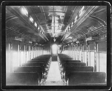 2009.018.01.051--Ohio Falls Car Mfg Co 9x7 cabinet card--New York Ontario & Western--interior view of passenger coach--Jeffersonville IN--no date