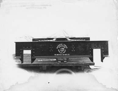 2009.018.01.005--Ohio Falls Car Mfg Co 9.5x7.5 builders print--unknown road--Erie truck from Buckeye truck--Jeffersonville IN--c1897 0000