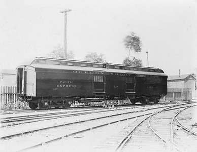 2009.018.01.034--Ohio Falls Car Mfg Co 8.25x6.5 builders print--Oregon Short Line--wooden baggage-express car 428--Jeffersonville IN--no date