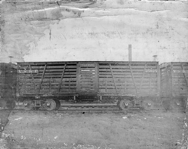 2009.018.01.023--Ohio Falls Car Mfg Co 9.5x7.5 builders print--Vicksburg Shreveport & Pacific--wooden stockcar 25025--Jeffersonville IN--no date