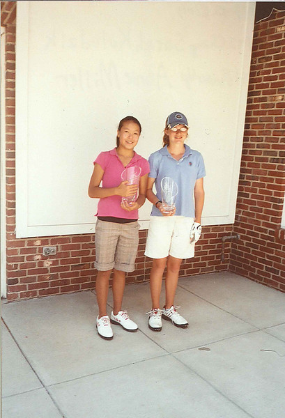 2007 Ohio Junior Junior World Champions, Girls ages 11-12.  (L) Champion, Sarah Kolodzik, (R) 1st  Runner-up, Annie Miller.