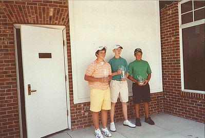 2007 Ohio Junior Junior World Champions, Boys ages 13-14.  (L) 1st Runner-up, Andrew Dorn, (C) Champion, Michael Bernard, (R) 2nd Runner-up, Nicholas Scott.
