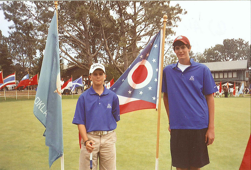 (L) Alec Tahy, (R) Sam Jandel at 2007 Callaway Golf Junior World Golf opening ceremonies.  Sam Jandel placed 12th in a field of 250 of the world's best junior players.