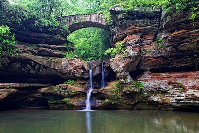 Upper Falls at Old Man's Cave.