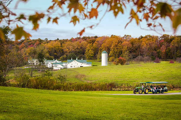 A tractor-drawn guided tour of Malabar Farm State Park.