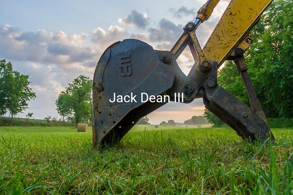 Backhoe On The Farm
