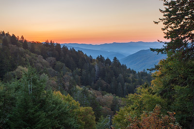 Sunrise Over Newfound Gap