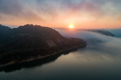 Sunrise At Cave Run Lake