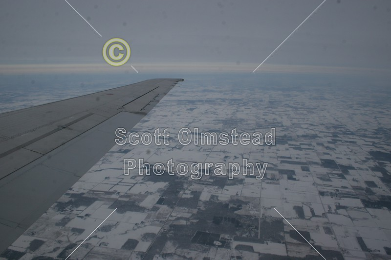 Flying over Minnesota about to land for a layover - 2007, December - Ohio State Buckeyes at Alaska Fairbanks Nanooks