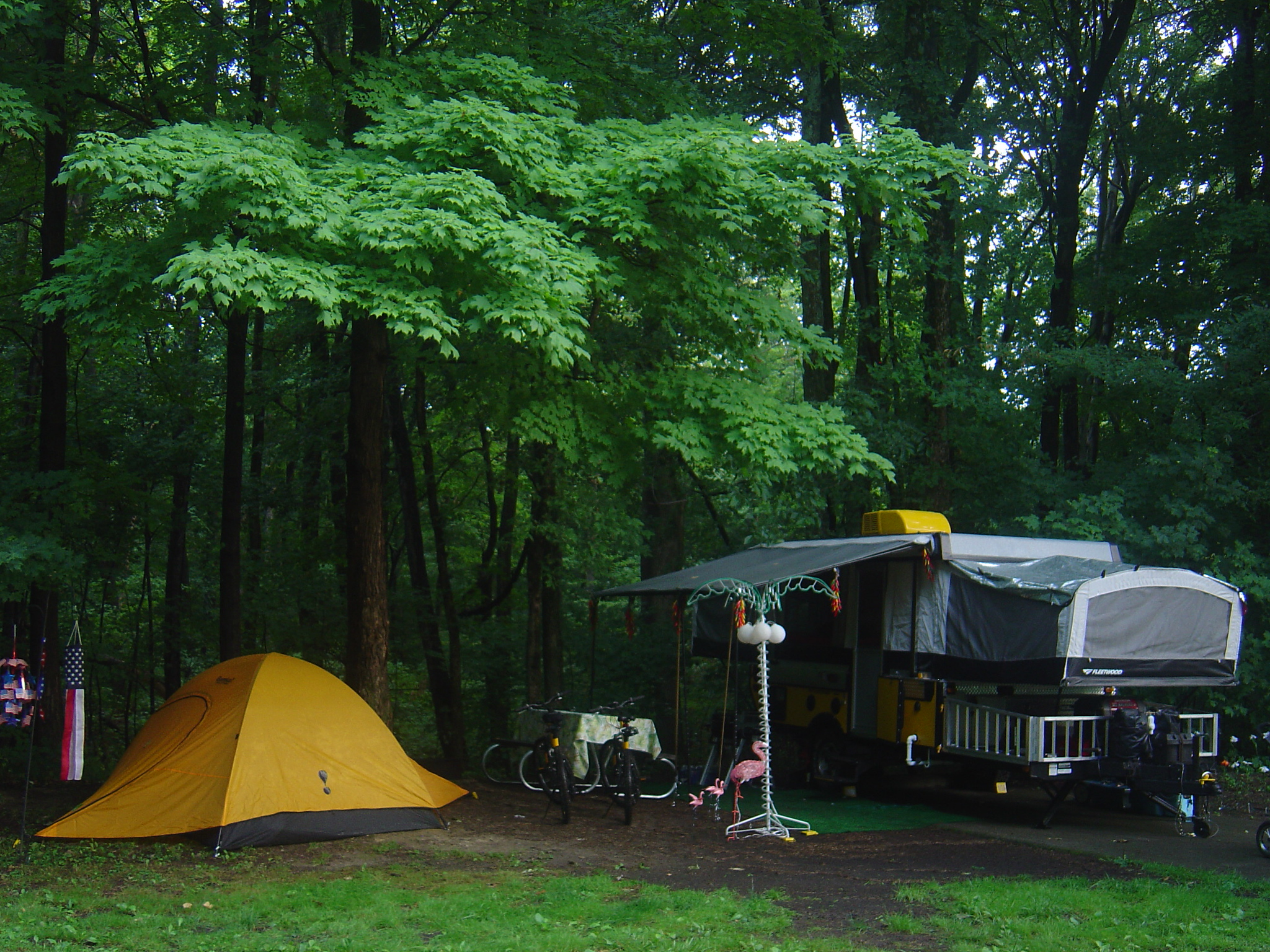 Here is my old tent that I used when my neices came camping with us at Lake Cowan, Ohio.