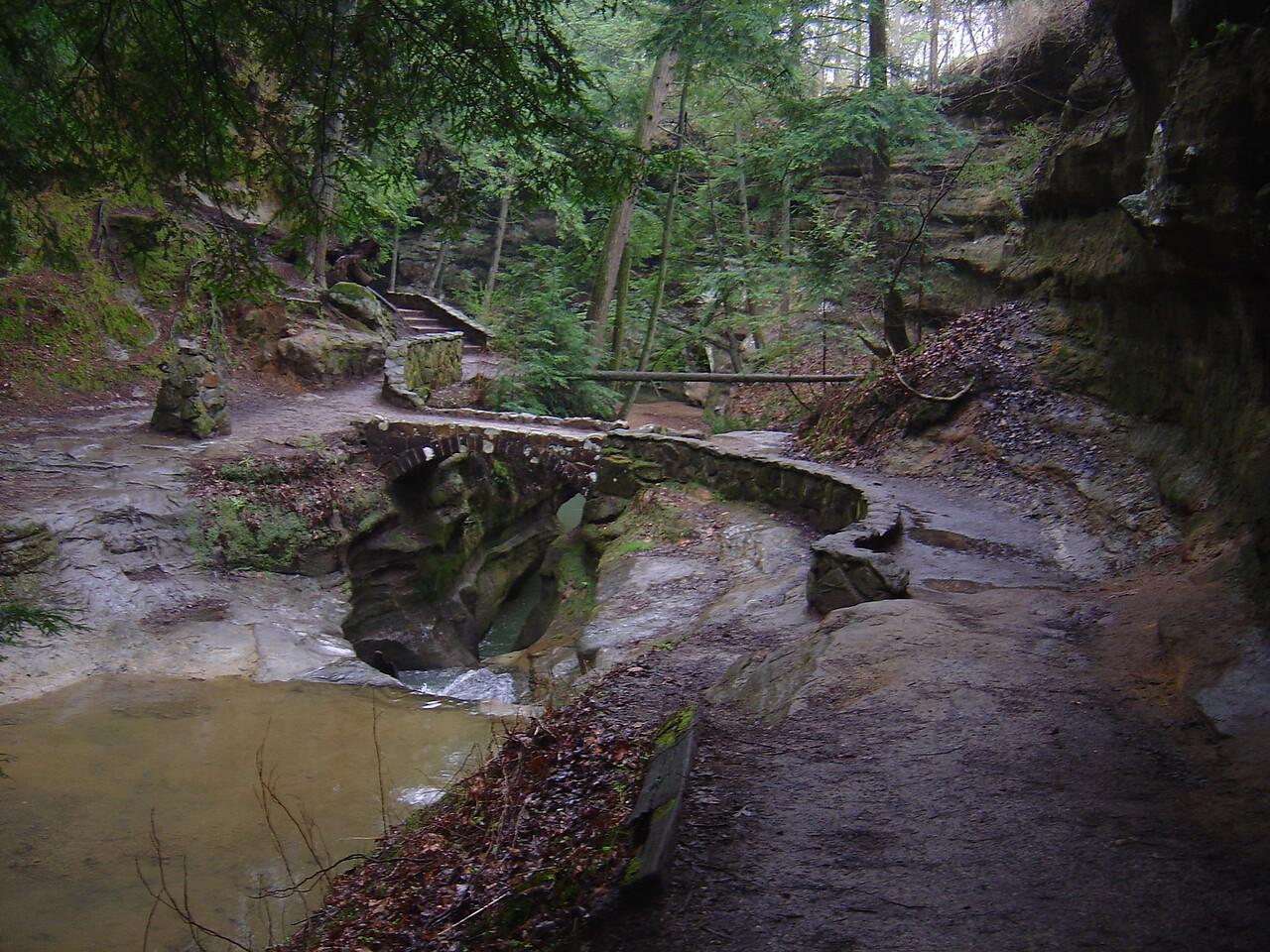Devil's bathtub underneath bridge.