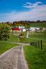A large Amish farm home near Berlin, Ohio, USA.