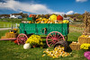 A fall farm produce display near Berlin, Ohio, USA.