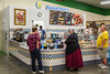 Auntie Anne's fast food counter at a flea market in Berlin, Ohio, USA.
