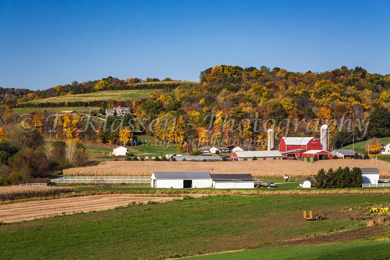 A farm in Coshocton County, Ohio, USA.