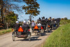 Amish horse and buggies on the roadways of Coshocton County, Ohio, USA.