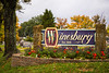 the welcome sign in Winesburg, Ohio, USA.