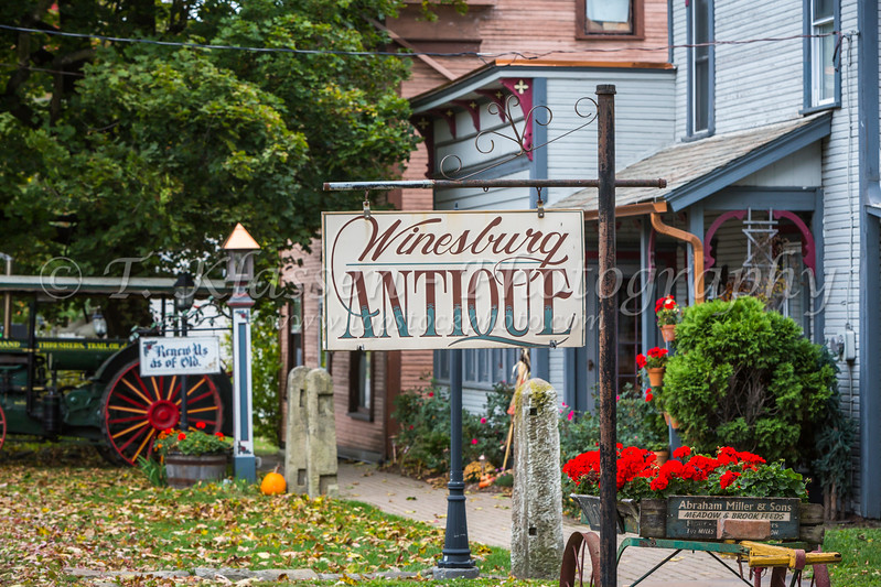 An antique store in the village of Winesburg, Ohio, USA.