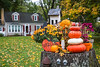 Fall display at a home in Sugar Creek, Ohio, USA.