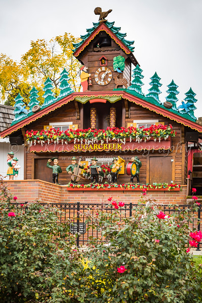 World's Largest Cuckoo Clock in sugar Creek, Ohio, USA.