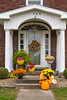 Fall display at a home in Sugar Creek, Ohio, USA.