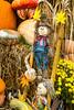 A fall display at a farm produce market near Walnut Creek, Ohio, USA.