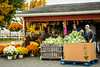 A farm produce market selling pumkins and gourds near Walnut Creek, Ohio, USA.