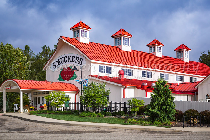 The Smucker's Store exterior in Orville, Ohio, USA.