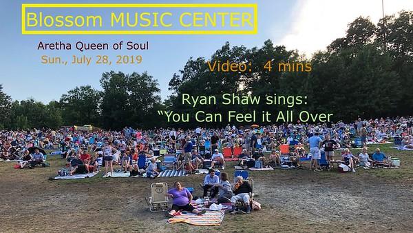 Video: 4  mins - Aretha  Franklin Tribute, Blossom Music Center, Sun., July 28, 2019