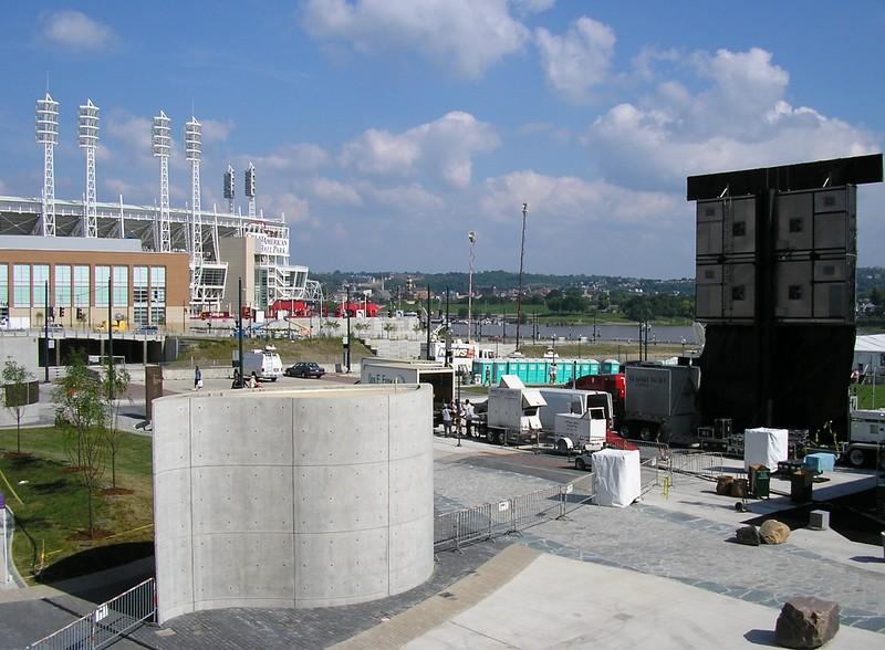 Stadium near the National Underground Railroad Freedom Center