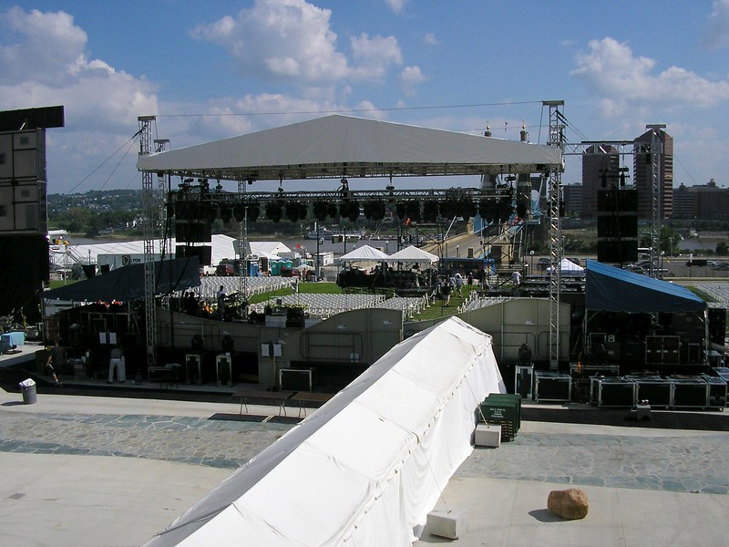 Media Set-up for Opening Ceremony