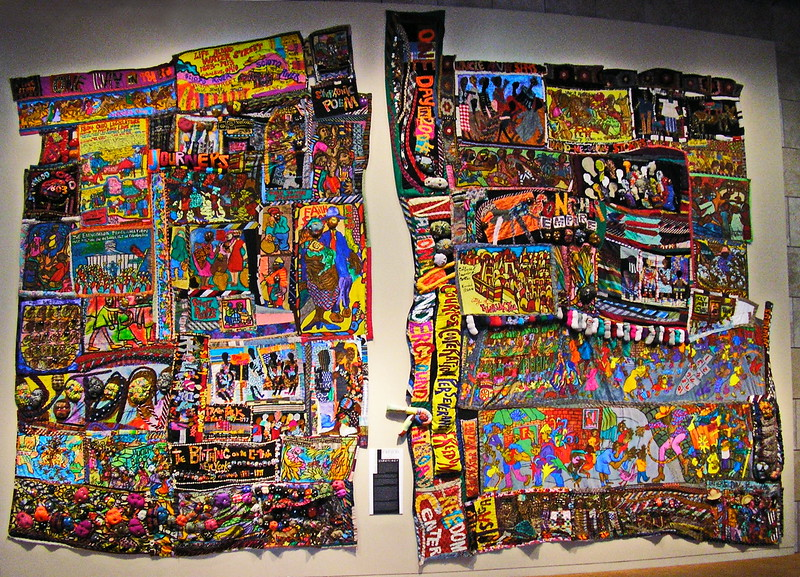 African American History Fabric Collage
