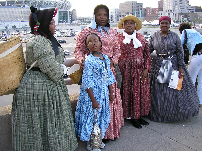 Women and Girls Re-enact Escaping to Freedom in Ohio
