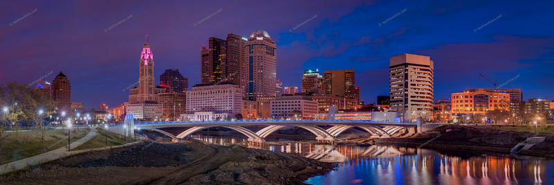 Dusk in Columbus, Ohio