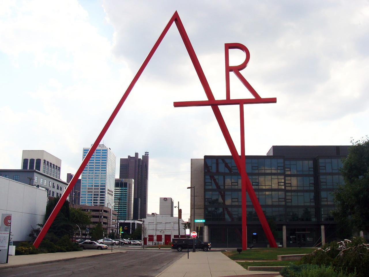 Big Red Art Sculpture
