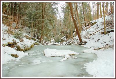 frozen stream in lower falls