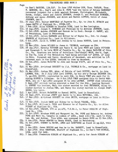 Highland Co deeds 1805-1850 p 34