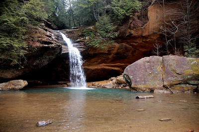 Lower falls at Old Mans Cave, Hocking HIlls