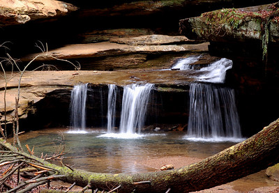 Old Mans Cave waterfalls